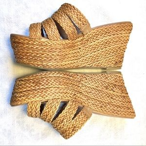 Lucky Brand Kristine Platform Wedge Woven Sandals